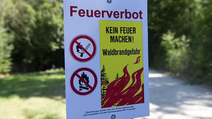 Das Feuerverbot im Wald und in Waldesnähe im Kanton Zürich gilt ab sofort.