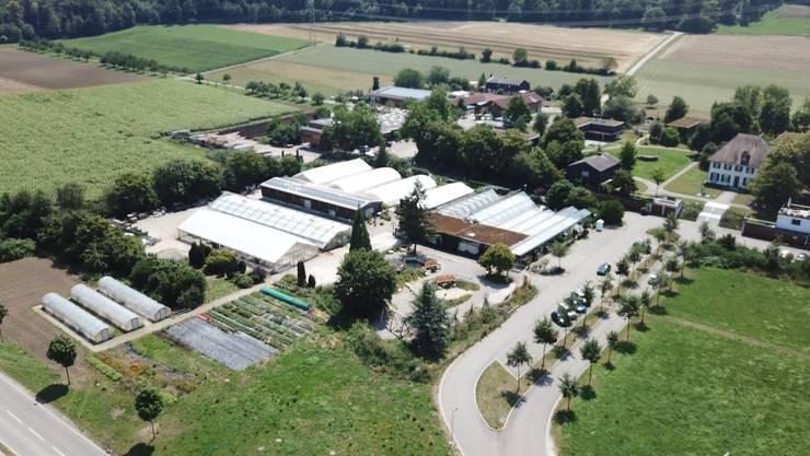 Das Berufsbildungsheim Neuhof in Birr aus der Luft.