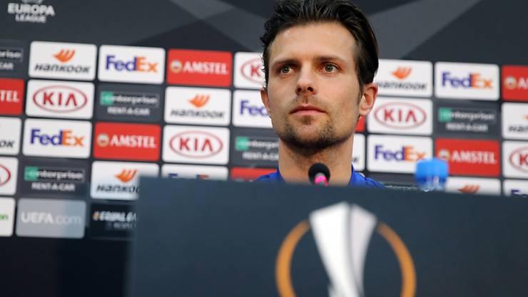 Auch Captain Valentin Stocker gibt sich vor dem Hinspiel optimistisch: Druck gehöre zum Job des Fussballers dazu, sagte er