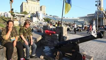 Ukrainische Aktivisten auf dem Maidan-Platz in Kiew