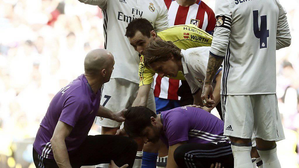 Glück und Pech für Real Madrids Pepe: Kurz nach seinem Tor zum 1:0 verletzte sich der Portugiese an der Rippe