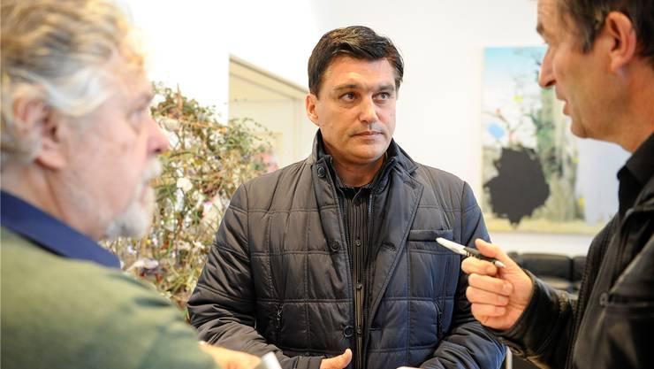 Christoph Buser, Direktor der Baselbieter Wirtschaftskammer, musste sich gestern in Liestal vielen unbequemen Fragen stellen.