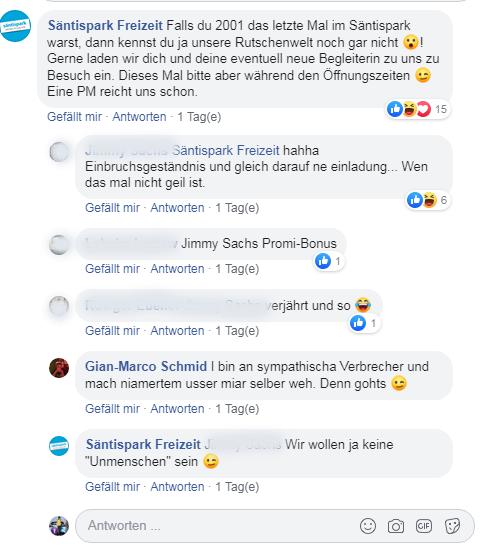 Gimma wird tatsächlich erneut in den Säntispark eingeladen. (Bild: Facebook/Gian-Marco Schmid)