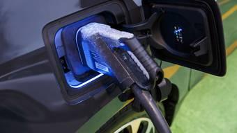Hochleistungs-Ladestation für Elektroautos.