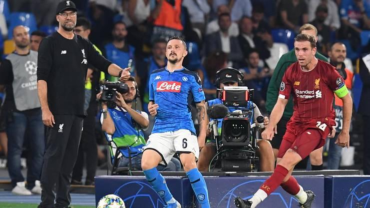 Fehlstart für Liverpool in Neapel mit Coach Jürgen Klopp (links)