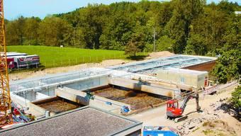 Blick auf die Baustelle: Das Projekt SANARA der ARA Region Murg schreitet zügig voran. (Bild: nub)