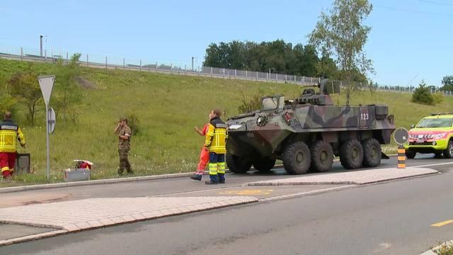 Panzercrash in Knonau