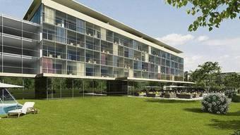 Das Hotelprojekt der Wohnbaugenossenschaft Bad Rans in Sevelen SG löste sich in Luft auf. Seit Montag stehen die Verantwortlichen der Baupleite in Mels vor Gericht.