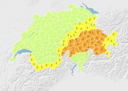 Im Kanton Graubünden wird es ordentlich weiss.