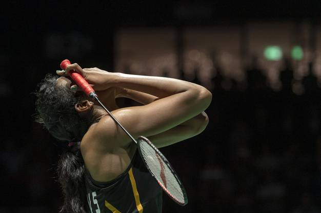 Sindhu Pusarla V. feiert ihren ersten Grosserfolg.