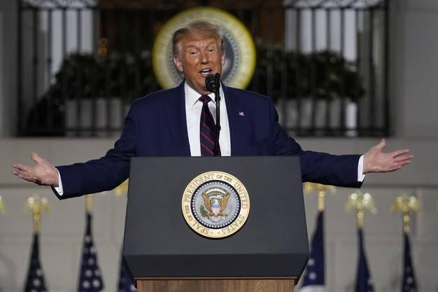 Präsident Donald Trump sprach 71 Minuten lang.