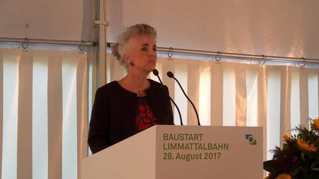Spatenstich Limmattalbahn: Die Rede der Zürcher Volkswirtschaftsdirektorin Carmen Walker Späh.