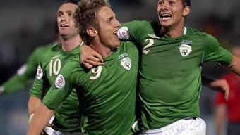 Kevin Doyle (m.) bewahrte Irland vor einer Blamage.