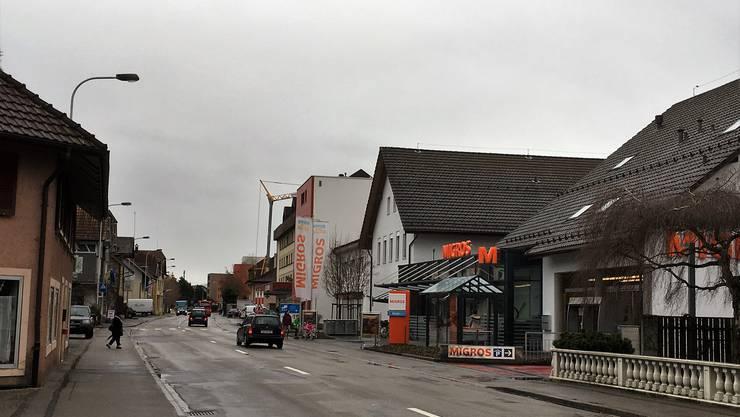 Der Teil Nord der Hauptstrasse kann umgestaltet werden.