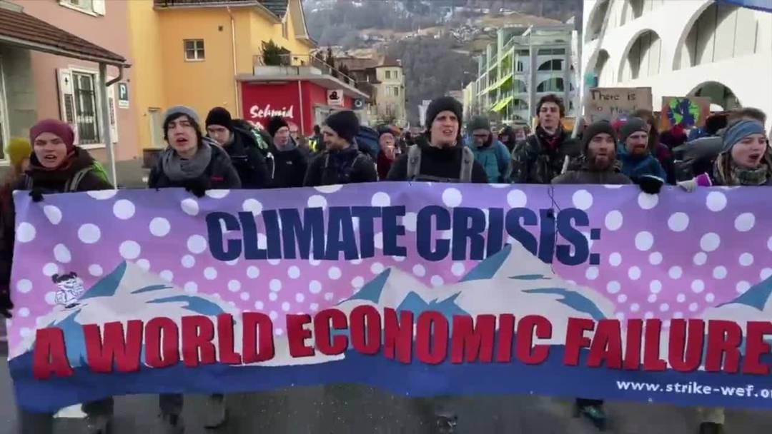 WEF 2020 - Klimawanderung nach Davos