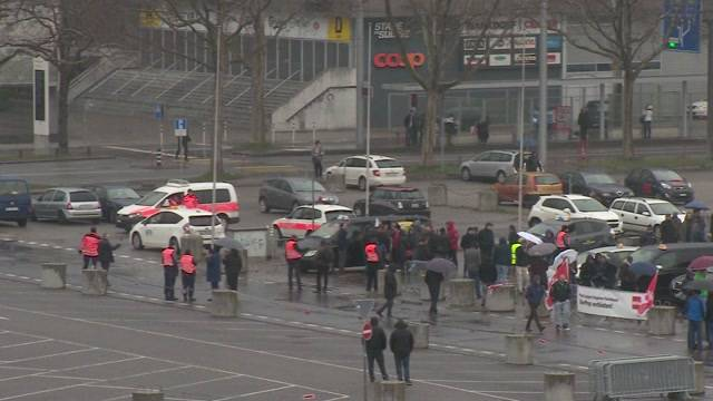 600 Taxifahrer protestierten in Bern