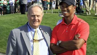 Die besten Golfer aller Zeiten sind gute Freunde: Jack Nicklaus und Tiger Woods