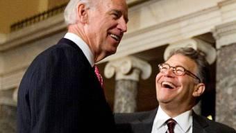 Joe Biden und Senator Al Franken