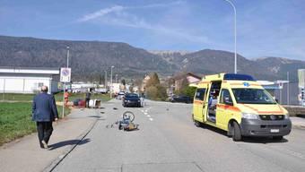 Der Unfall ereignete sich an der Kreuzung Leuzigenstrasse/Lebernstrasse.