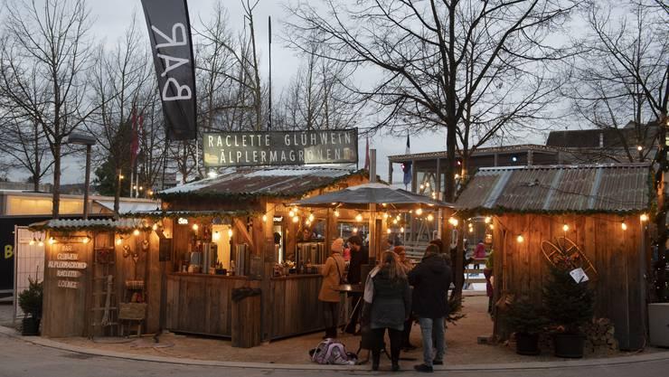 Ohne Eisfeld und Restaurant: 25 Markthütten kommen ins Wunderdorf.