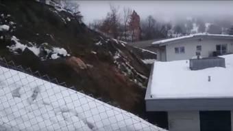 Lawine und Erdrutsch im Wallis (4.1.2018)