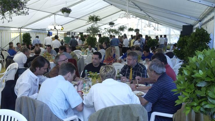 Uhrencup 2003: Blick ins VIP-Zelt