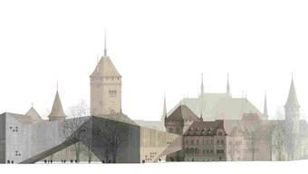 Dem Erweiterungsbau müsste ein Teil des Platzspitz-Parks weichen. (Landesmuseum/Christ&Gantenbein/zvg)