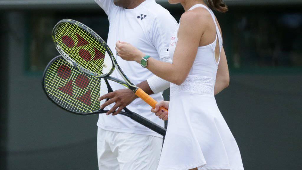 Für einmal früh gescheitert: das Mixed-Doppel Martina Hingis/Leander Paes