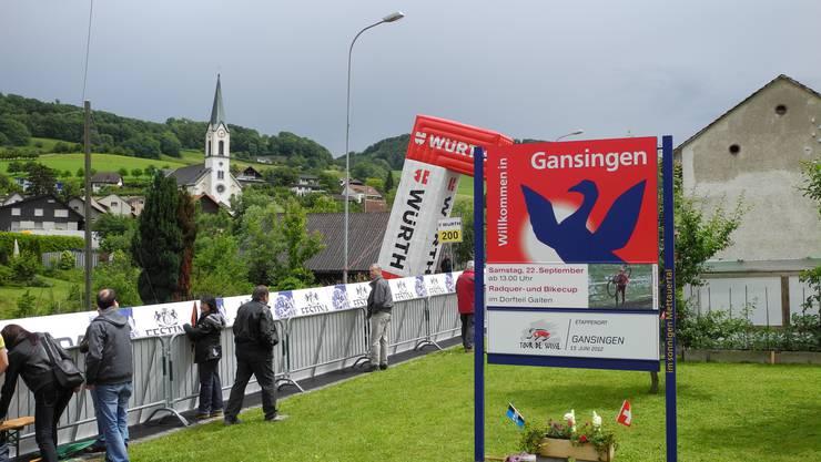 Ruhe vor dem Sturm Gansingen freute sich über die Tour de Suisse