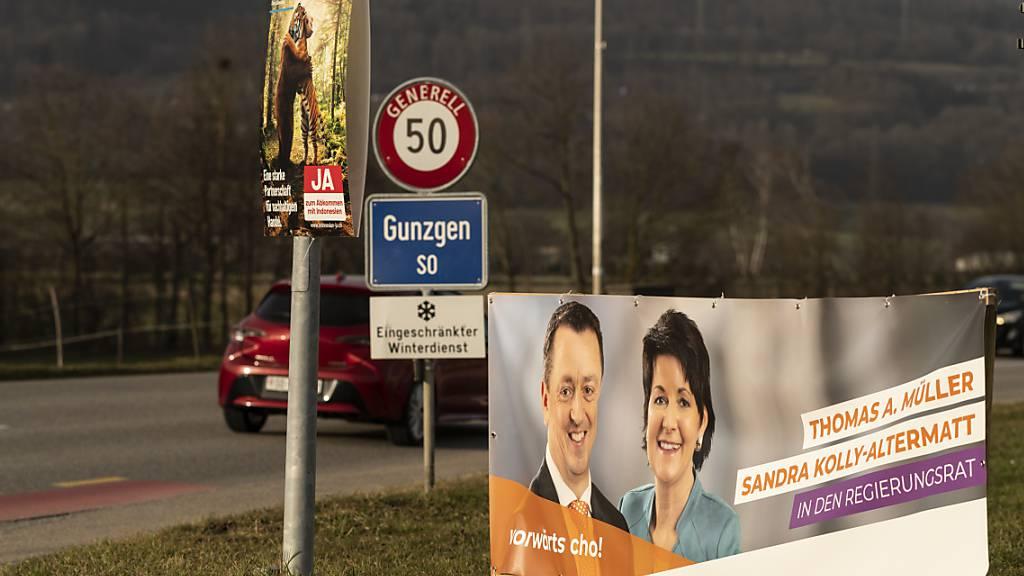 Stimmvolk wählt in den Kantonen Solothurn, Wallis, Genf und Glarus