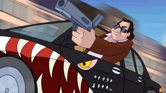 Im Bild ist Polizist Harry Klein, Assistent des Kommissars Derrick zu sehen.