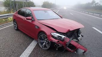 A1-Unfall in Oberentfelden (26.08.2018)