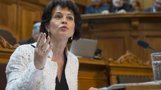 Bundesrätin Doris Leuthard im Ständeratssaal (Archiv)
