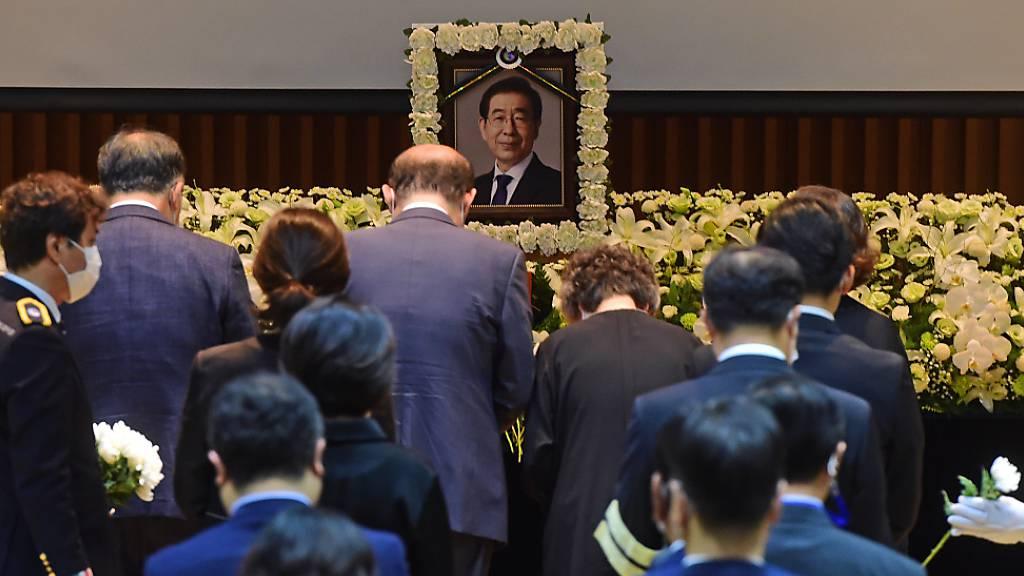 Seoul will Vorwürfe gegen toten Bürgermeister untersuchen lassen