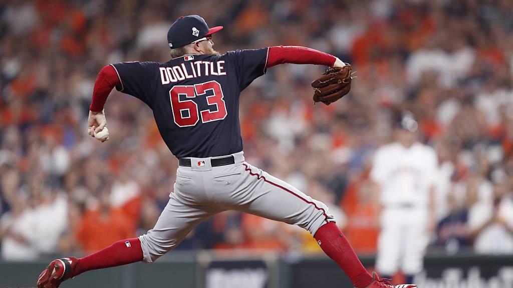 Eine Stilstudie: Washington Nationals Pitcher Sean Doolittle.