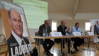 Zum dritten und letzten Mal vor den Wahlen lud Regierungskandidat Anton Lauber die Presse ein.
