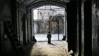 Blick auf die umstrittene Installation in Warschau