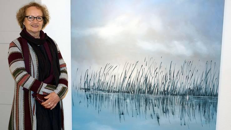 Ruth Roth vor einem ihrer Ölbilder. Ursula Burgherr