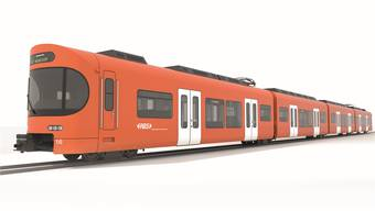 So sieht der neue Zug aus, welcher schrittweise ab Ende 2018 auf der Strecke S7 zwischen Bern und Worb eingesetzt wird