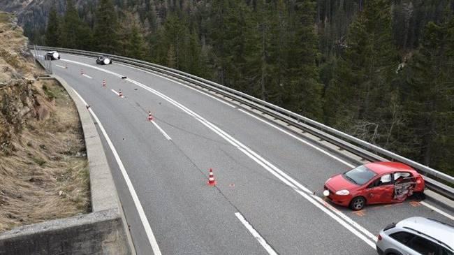 Auf der A13 kam es zu einer Kollision.