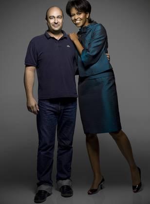 Für einmal vor der Kamera: Henry Leutwyler mit Michelle Obama. Er hat die ehemalige First Lady mehrmals fotografiert.