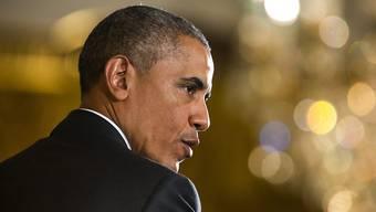 US-Präsident Barack Obama rechtfertigt vor den Medien im Weissen Haus das Atomabkommen mit dem Iran. Es sei das bestmögliche.