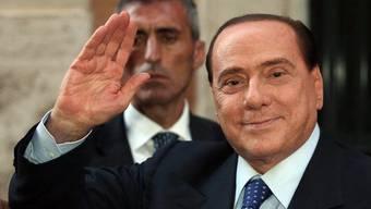 Silvio Berlusconi nach einem Treffen mit der Partei
