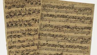 Das handschriftliche Manuskript des Komponisten Johann Sebastian Bach entstand vermutlich zwischen 1740 und 1745. Es wurde bei einer Versteigerung für umgerechnet 3,2 Millionen Franken verkauft. (Archivbild)