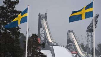 Hier fliegen nur die Ausländer weit: Die renovierten WM-Schanzen im schwedischen Falun.