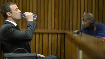 Pistorius im Gericht vor der Schlussrede seines Verteidigers