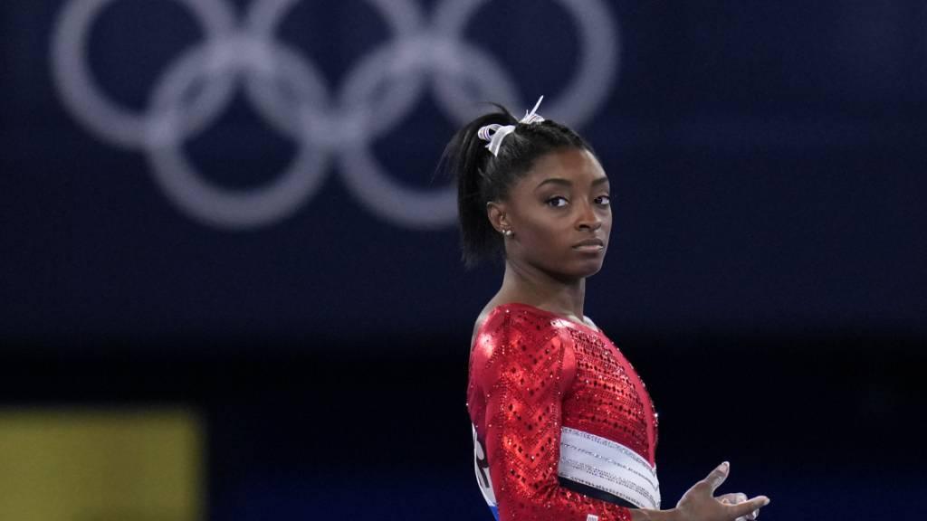 Fokus auf ihre mentale Gesundheit: Kunstturn-Superstar Simone Biles verzichtet auf den Start im Mehrkampf-Final