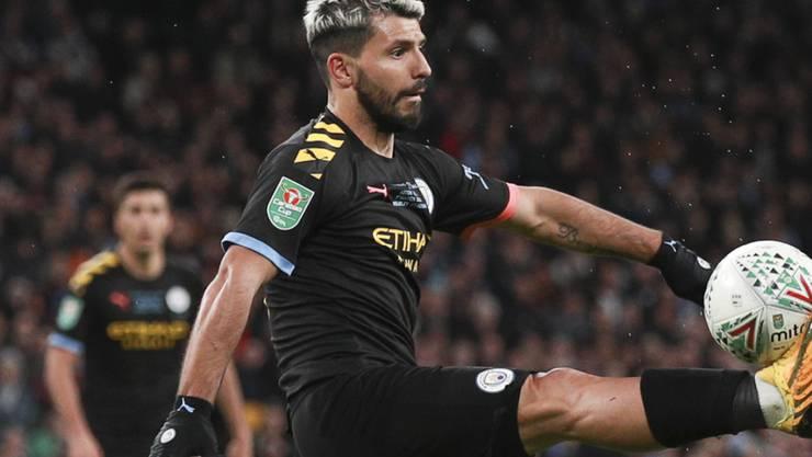 Sergio Agüero schoss im Ligacup-Final das 1:0 für Manchester City