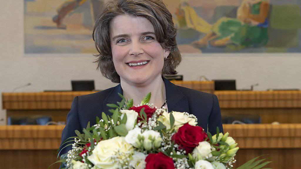Die neu gewählte Baselbieter Regierungsrätin Kathrin Schweizer (SP).