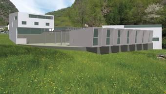 Visualisierung des Zentrums im Lavizzaratal.